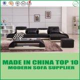 Sofá moderno do couro genuíno da L-Forma pequena para a sala de visitas