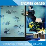 Effacer la fleur d'acide à motifs gravés verre décoratif/ Art Glass