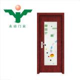 Yongjie solide noyau de MDF et le PVC plastifié avec du verre de porte intérieure