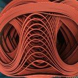 Coated резиновый приурочивая пояс, красный цвет, T5-1900