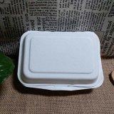 Wegwerfzuckerrohr-Tafelgeschirr biodegradierbarer Bento Mittagessen-Kasten