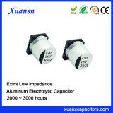 condensador electrolítico de aluminio de la impedancia ultrabaja de 470UF 16V SMD