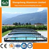 Телескопичные приложения плавательного бассеина металла или крыша бассеина крышки плавательного бассеина