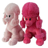 Brinquedo peludo cor-de-rosa do cão da caniche