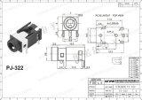 Wnre 3.5mm Audio Mono StereoHefboom 3 Speld pj-322 van de Hefboom