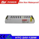 alimentazione elettrica di 24V 5A LED con le HTC-Serie della Banca dei Regolamenti Internazionali di RoHS del Ce