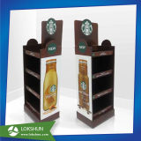 Affichage de la vente au détail en carton Pop Café avec 4 étagères Holding 30kg, OEM / ODM usine d'affichage en carton