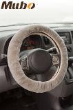 Tampa de volante universal de pele de pele de carneiro