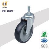 Kleiner 1.5 Zoll PU-Rad-Fußrolle drehend