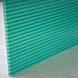 Hoja gemela plástica cristalina de la depresión de la pared del policarbonato para el Sunroom
