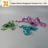 Hengyuan Polished 크롬 완료 녹색에 있는 세라믹 개구리 작은 조상