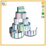 Impressão removível adesiva feita sob encomenda da etiqueta no rolo