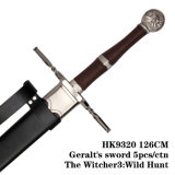 Espada 5PCS/Ctnthe Witcher3 de Geralt: Caça selvagem 126cm HK9320/HK9321