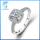 monili bianchi dell'argento del diamante di Moissanite del taglio brillante dell'ammortizzatore di 7X7mm per l'aggancio