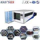 Machine de découpage de cuivre en aluminium de laser en métal de fibre optique d'acier inoxydable