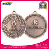 Medaglia in lega di zinco del premio di sport del ricordo del metallo