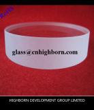 厚い円形のゆとりの石英ガラスの版