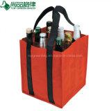 Aufbereitetes förderndes Polyester Oxford 9 Satz-Wein-Flaschen-Verpackungs-Beutel
