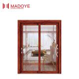 Puerta deslizante de cristal del diseño de la parrilla con el modelo del estilo chino