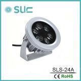 Nuevos 24W impermeabilizan la lámpara al aire libre del proyector del LED