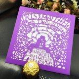 Farbenreiche Offsetdrucken-kundenspezifische Perlen-Papier-Einladungs-Karte