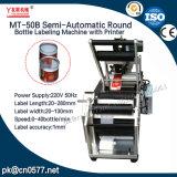 De halfautomatische Ronde Machine van de Etikettering van de Fles voor Ingeblikt Voedsel (MT-50B)