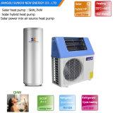 Agua Caliente Sanitaria 60 grados. C 220 V Tankless 5Kw 260L, 7KW y 9kw alto COP5.32 Ahorre 80% de energía solar generador de aire a agua de la bomba de calor