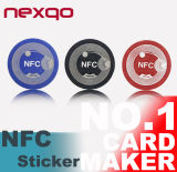 Etiquetas engomadas personalizadas venta entera de Ntag215 NFC con memoria del utilizador 504bytes