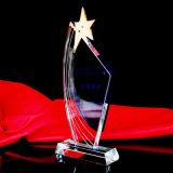 صنع وفقا لطلب الزّبون علامة تجاريّة وكلمات بلّوريّة غنيمة [بروأدسوورد] شكل بطل مكافأة فنجان رياضات تذكارات منافسات مكافأة