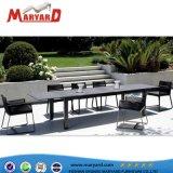 Hotselling exterior mesa de comedor y sillas de patio, Presidente de la cuerda de muebles de Ocio