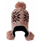 女性POM POMのニットの耳の折り返しの帽子の暖かい冬の帽子のスキー帽