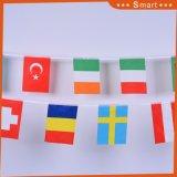 Fabrik-Preis-im Freien dekorative Polyester-Gewebe-Zeichenkette-Flagge-Markierungsfahnen