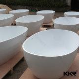 Preiswerter Preis-einfache ovale freistehende feste Oberflächenbad-acrylsauerwanne