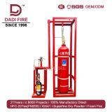 5.6MPa Systeem van de Afschaffing van de Brand van het Brandblusapparaat van het Netwerk FM200 van de pijp het Automatische