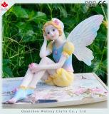 Venda por grosso de materiais de resina fadas linda Flor roupas azul Figura de fadas