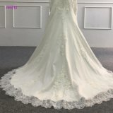China-nach Maß Hochzeits-Kleid-langer Hülsen-hoher Ausschnitt-Brautkleid