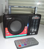Alto-falante do gravador de rádio com slot para cartão USB SD TF controlo remoto