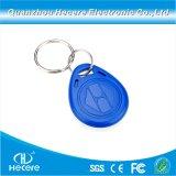 13.56MHz ABS PVC Keyfob MIFARE標準的な1KキーホルダーRFID