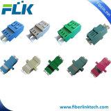 LC/Sc/FC/St/Mu/E2000/MTRJ/MPOのシンプレックスかデュプレックスまたはクォードのシングルモードかマルチモードOm3/Om4 APC/Upcのファイバーの光学か視覚のアダプター