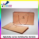 Bolsa de papel de lujo personalizado con el algodón manejar