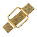 Milanesas de lujo magnético de bucle de malla de acero inoxidable Correa de reloj de oro para Blaze