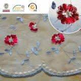 F011マルチカラー刺繍の網のレースファブリック化学薬品のレース