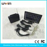 Mini Solar Home Système d'éclairage avec lumière solaire et panneau solaire et câble USB