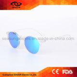 Cancelar óculos de sol polarizados protetores espelhados do círculo UV400 para mulheres