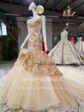 Aoliweiya Nixe-Goldtulle-Hochzeits-Kleid