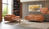 El italiano moderno muebles sofá de cuero auténtico