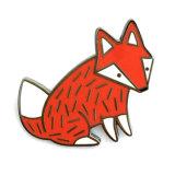 제조자 중국 1.2 인치 Fox 금속 접어젖힌 옷깃 Pin