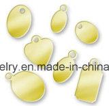 Het aangepaste Gegraveerde Ovale Embleem etiketteert 4.5X9mm voor de Ketting van de Staart van de Armband