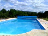 Material PVC globo azul Cobertura piscina para venda