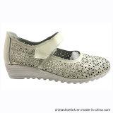 Niza moda casual de la mujer los zapatos de cuero con suela de TPR